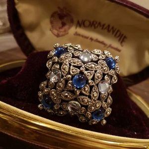vintage brooch gem stone beautiful  big